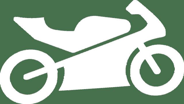 accidente de moto blanca